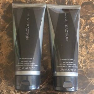 2 Avon hair and body wash for him